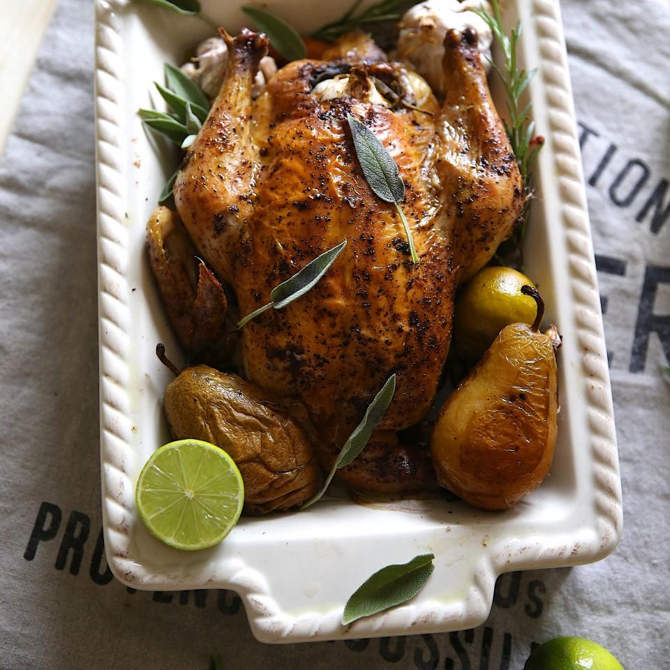фотография из рецепта курица с лаймами и шалфеем