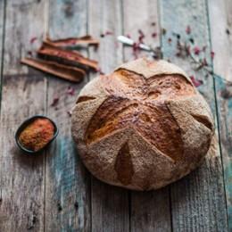 Тыквенный хлеб на пшеничной закваске