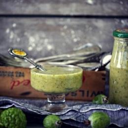 Варенье из фейхоа и кафрского лайма (без варки)