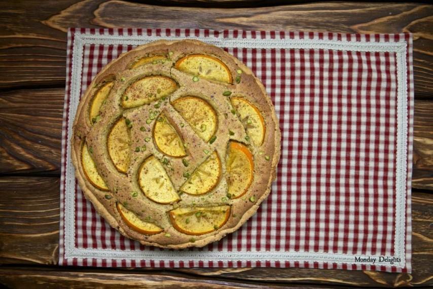 2 пирога: миндально-абрикосовый по Белонике и с фисташками и хурмой