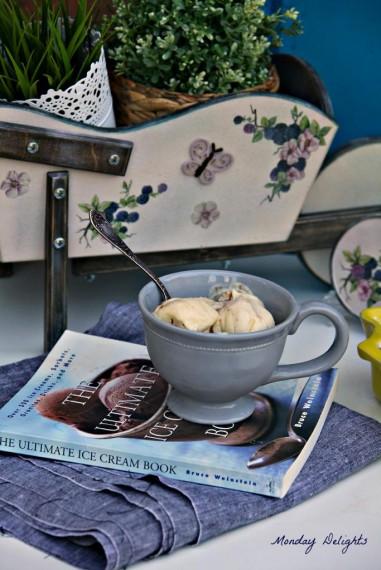 Домашнее мороженое из лаймов с добавлением бурбона и нутеллы