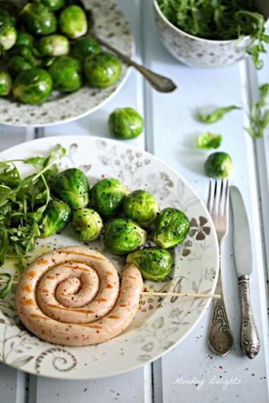 Домашние колбаски\сосиски из индейки со сливками