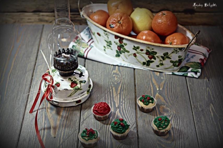 Несладкие капкейки с верхушками из шпината и свеклы