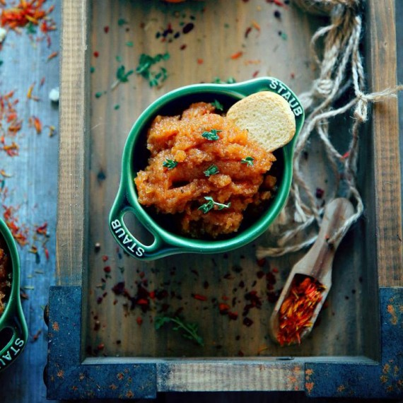 Песто или пюре из запеченных овощей