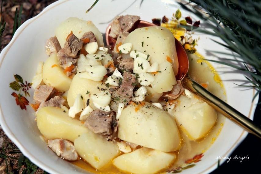 Похлебка с картошкой и телятиной для мультиварки