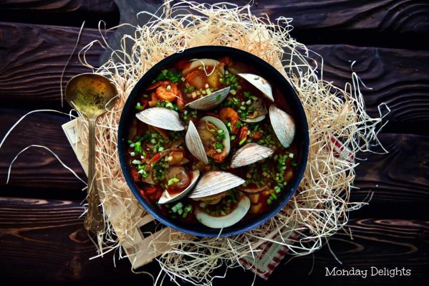 Похлебка с морепродуктами и фенхелем из книги Jerusalem