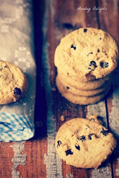 самое простое печенье с изюмом
