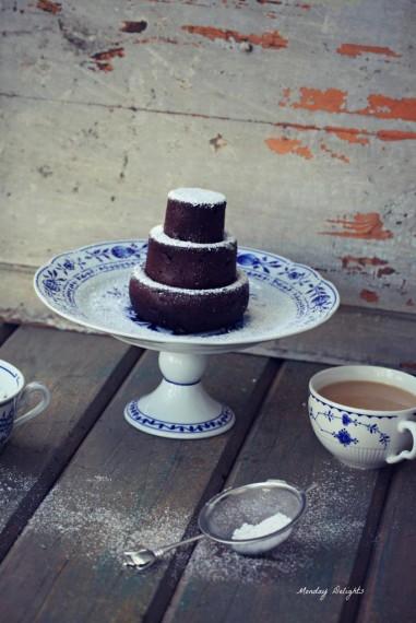 Шоколадный пирог на соевом молоке
