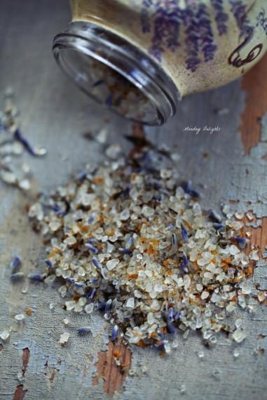 Соль с розмарином,  лавандой и апельсиновой цедрой