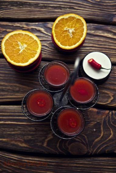 2 варианта супа с апельсинами,томатами и чили. Холодный и горячий
